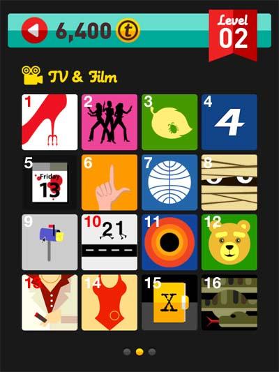 icon pop quiz answers tv & film level 2