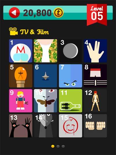 icon pop quiz answers tv & film level 5