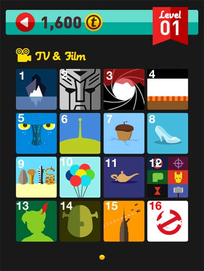 icon pop quiz answers tv & film level 1