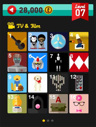 icon pop quiz answers tv and film level 7