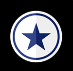 A blue star seen on the sides of a particular shoe  The answer is: Converse