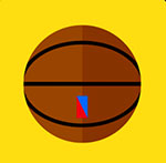 A basketball with an emblem on the bottom  The answer is: Spalding