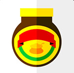 A white background with yellow, red, and green   The answer is: Marmite