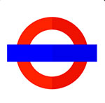 A red circle with a blue line going through it  The answer is: London Underground
