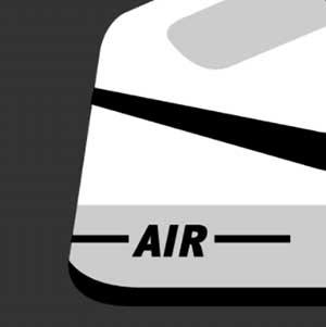 The back heel of a sneaker