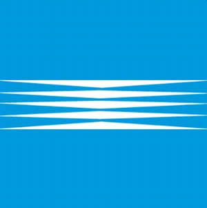 A blue background with white lines going across