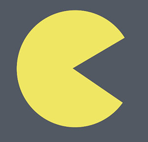 Yellow munching circle.