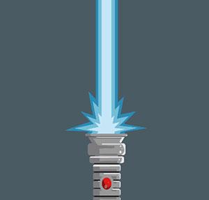 Blue lightsaber.
