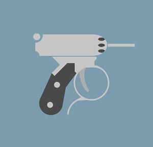 Hand gun.