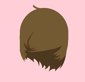 Brown hair shag.