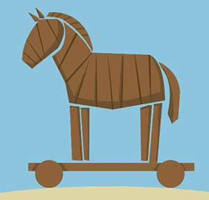 Large wooden toy horse.