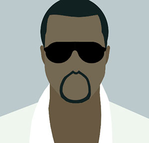Black man with sunglasses and white t-shirt.