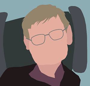 Man with glasses and head rest.