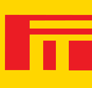 Red blocks with a yellow background.