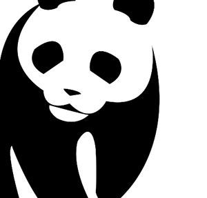 Black and white panda.
