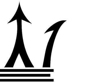 Black arrow pointing upwards