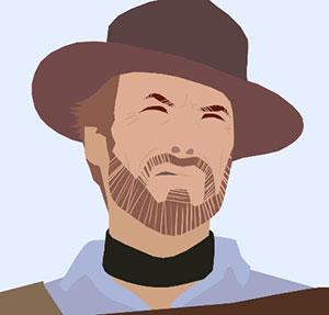 Man grimacing in cowboy hat.