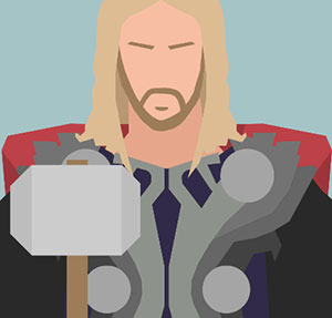 Man with blonde hair and knight armor.