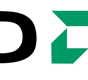 Black letter D next to a green symbol