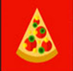 A pizza slice   The answer is: Pizza Hut