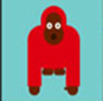 A red Gorilla   The answer is: Kipling