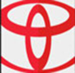 A cay symbol in red  The answer is: Toyota