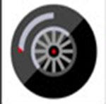 A black wheel   The answer is: Bridgestone