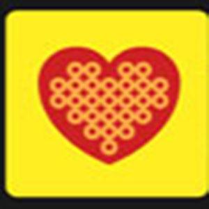 A heart shape .