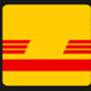 A yellow background with red lines .
