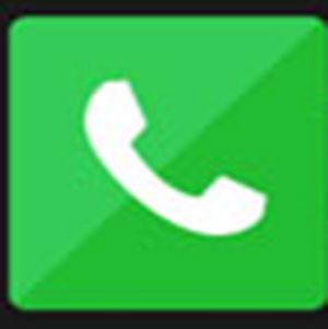 A white phone .
