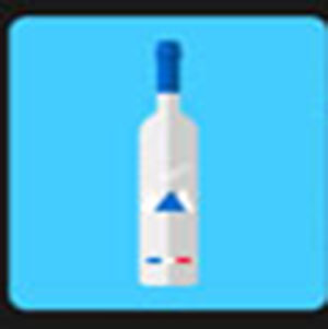 A bottle of Grey Goose .