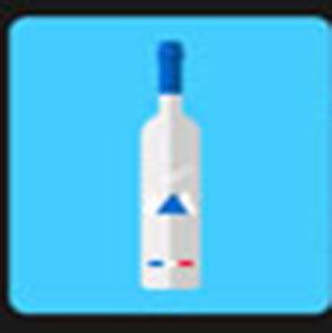 A bottle of Grey Goose .