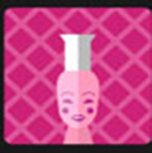 A pink bottle .