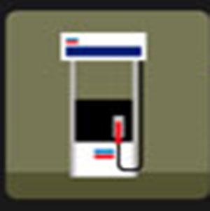 A white gas pump .