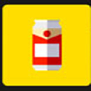 A beer can .