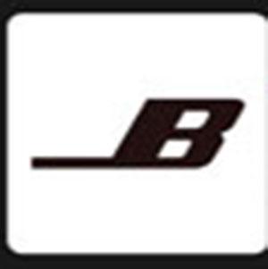 A black letter B .