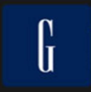 A white letter G .