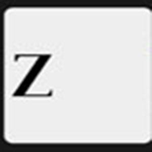A black Z .