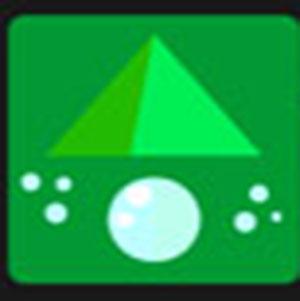 A green pyramid .