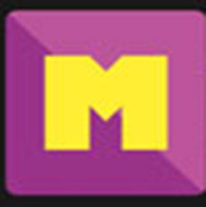 A yellow M .