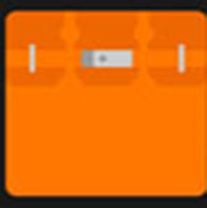 An orange bag .