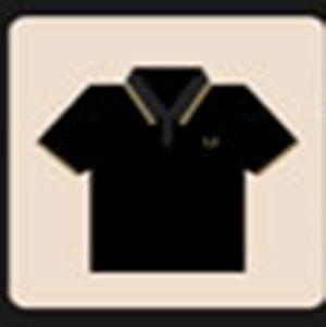 A black shirt .