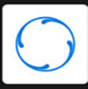 A blue circle .