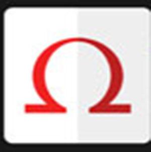 Omega symbol .