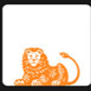 An orange lion .