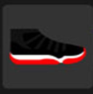 A black basketball shoe.