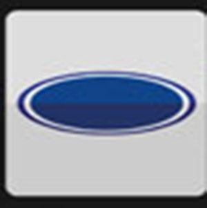 A blue car symbol .