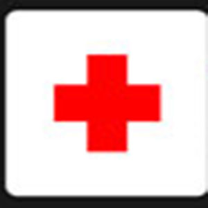 A red cross .