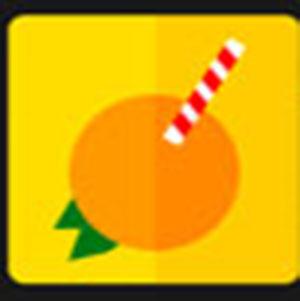 An orange .