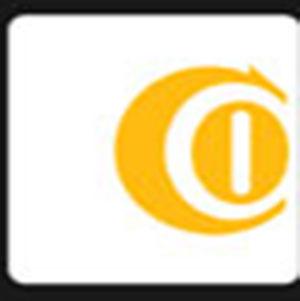 An orange letter C .